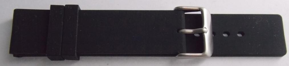 Ремешок каучук (Польша) 20 мм. Черный