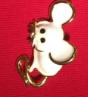 Брошь брошка значок белая крыса мышь металл супер как живая ШКОДНАЯ!, фото 5