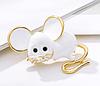Брошь брошка значок белая крыса мышь металл супер как живая ШКОДНАЯ!, фото 3