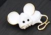Брошь брошка значок белая крыса мышь металл супер как живая ШКОДНАЯ!, фото 7