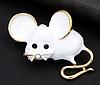 Брошь брошка значок белая крыса мышь металл супер как живая ШКОДНАЯ!, фото 4