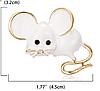 Брошь брошка значок белая крыса мышь металл супер как живая ШКОДНАЯ!, фото 2