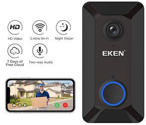 Беспроводной видеозвонок с датчиком движения и WI-FI Eken V6 Black