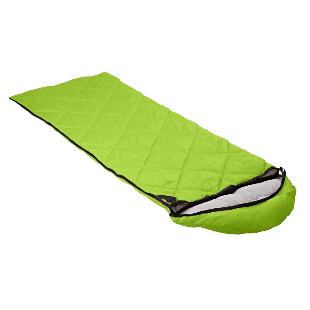 Спальный мешок Кемпинг Peak с капюшоном (Салатовый)