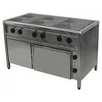 Плита электрическая ПЭ-6Ш Н, с жарочным и нейтральным шкафами