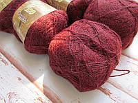 Пряжа Yarna Alpaca 100 (Альпака 100%) Ярна # 9020 [вино - меланж]. Набор - 6 шт (300грамм).