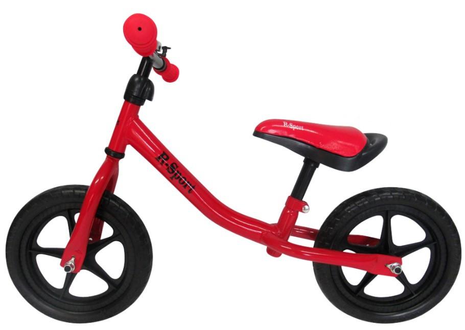 Беговел для детей от 2 3 4 лет R-Sport R1 колеса 12 пена красный