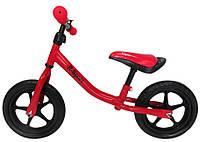 Беговел для детей от 2 3 4 лет R-Sport R1 колеса 12 пена красный, фото 1