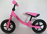 Беговел R-Sport R1 колеса 12 пена розовый, фото 3