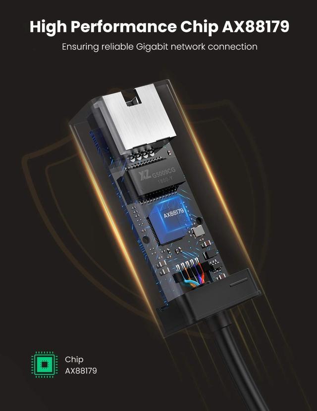 Внешняя сетевая карта / Сетевой адаптер USB 3.0 Gigabit Ethernet LAN RJ45 Ugreen 20256 10/100/1000Mbps