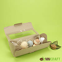 Коробка 220*80*80  десертів та подарунків з вікном, гофракартон