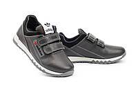 Детские кроссовки кожаные весна/осень серые-черные CrosSAV 39L, фото 1