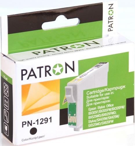 Картридж PATRON CI-EPS-T1291-B-PN Black