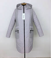 Удлиненная женская куртка весна осень размеры 50-60