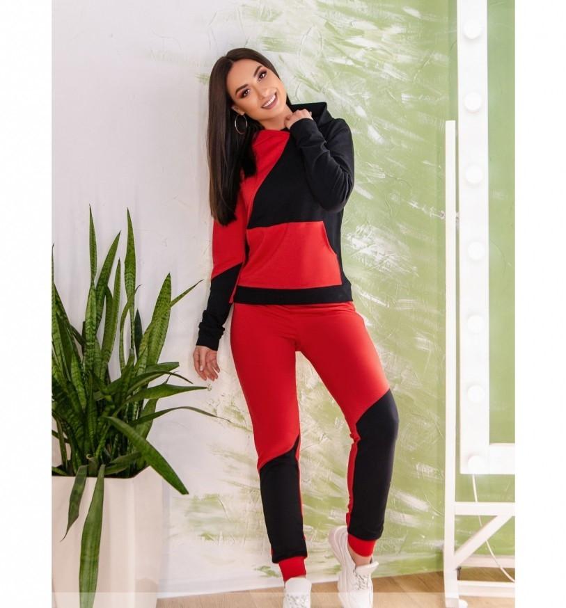 Спортивный костюм Minova 1223-красно-черный