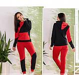 Спортивный костюм Minova 1223-красно-черный, фото 4