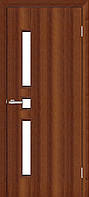 Двери межкомнатные ОМиС Комфорт орех (финиш-пленка) классика + стекло (600,700,800,900 мм)