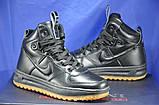 Високі чорні підліткові кросівки в стилі Nike Lunar Force LF1, фото 4