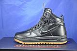 Високі чорні підліткові кросівки в стилі Nike Lunar Force LF1, фото 2
