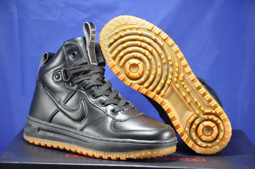 Високі чорні підліткові кросівки в стилі Nike Lunar Force LF1