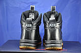 Високі чорні підліткові кросівки в стилі Nike Lunar Force LF1, фото 5