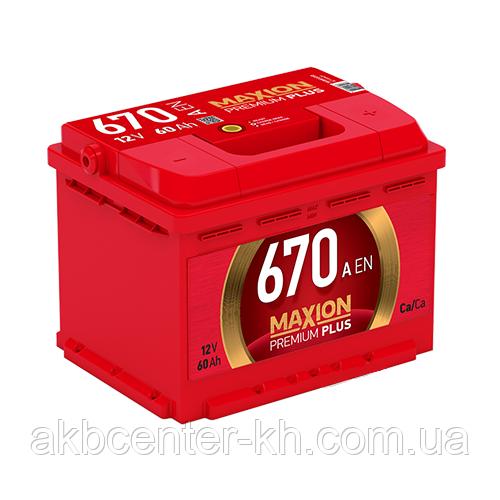 Автомобильный аккумуляторы MAXION PREMIUM Plus 6СТ-60 А2HE R