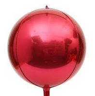 "Фольгована кулька 4D сфера Червоний 22"" (55 см) Китай"