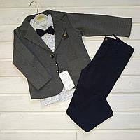 ✅Костюм классический для мальчика рубашка брюки и пиджак  122 128