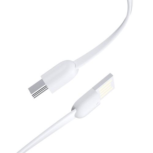 Кабель синхронізації ROCK S3 Type-C Portable Cable with Keychain 3A 0.14 m White (820201000594)