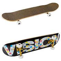 Скейт Golden visions, канадский клен, р-р 78,5*23,6см, колеса PU 52*52мм.