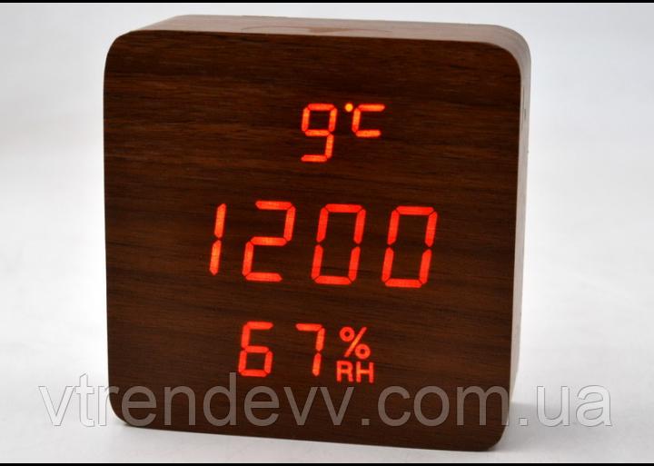 Часы электронные настольные с датчиком температуры и влажности LED VST-872S Original