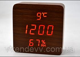 Часы электронные настольные с датчиком температуры и влажности LED VST-872S