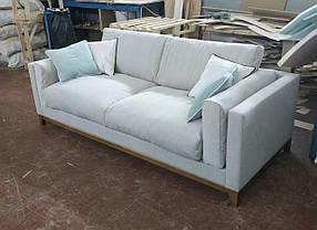 Диван в гостиную прямой дизайнерский под заказ №2А (Мебель-Плюс TM)