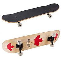 Скейт, канадский клен, р-р 78,5*19,5см, колеса PU, 52*37мм.