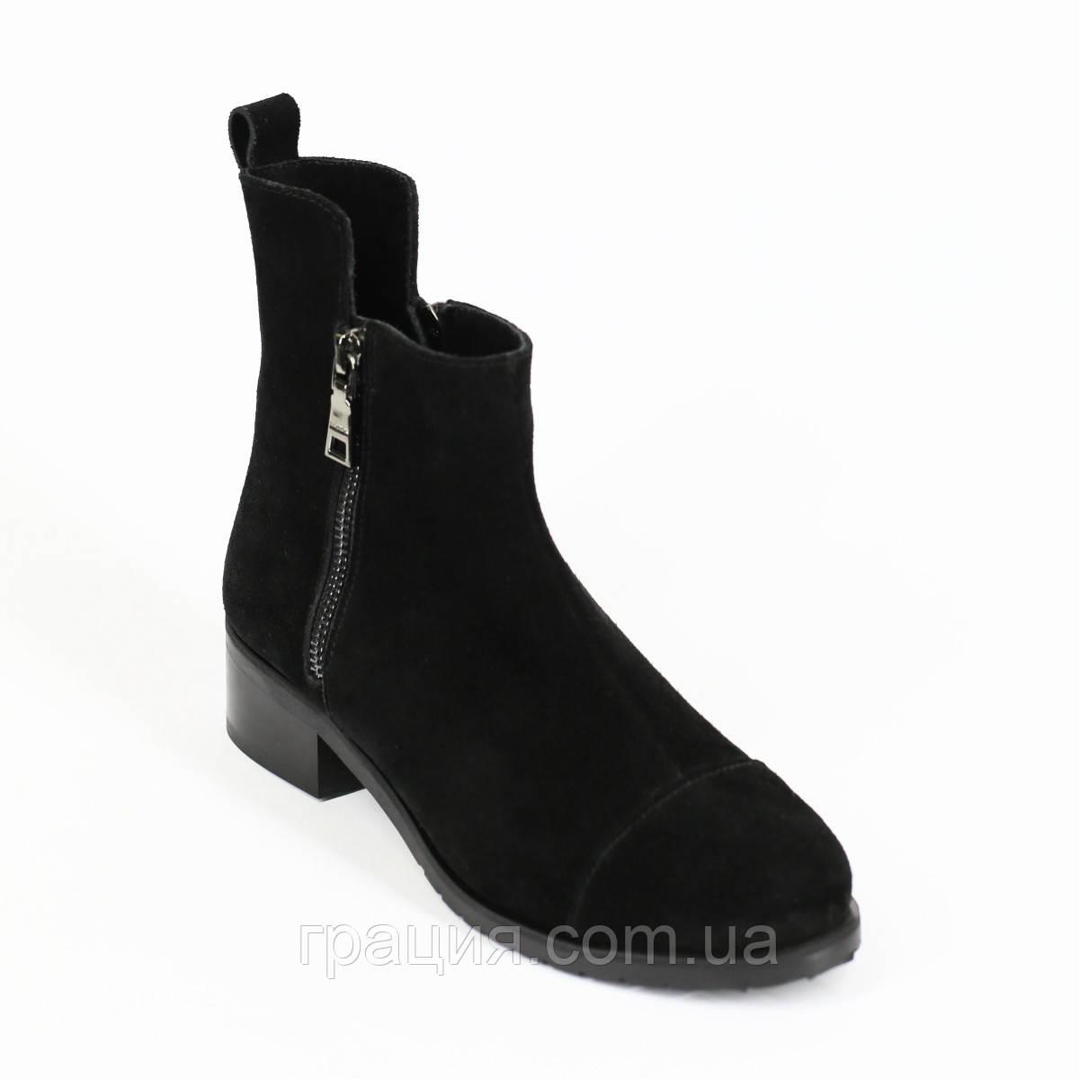 Стильные женские замшевые демисезонные ботинки
