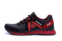 Мужские кожаные кроссовки Reebok Classic Red (реплика)