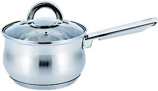 Кухонный ковш | Сотейник | Ковш с крышкой из нержавеющей стали Benson BN-224 1 л