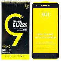 Защитное стекло 9D для Xiaomi Redmi Note 4X (Black)