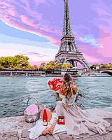 Картины по номерам 40×50 см. Свидание в Париже