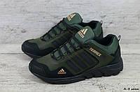 Мужские кожаные кроссовки Adidas (Реплика) (Код: А-3 хаки  ) ►Размеры [40,41,42,43,44,45], фото 1