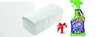 Рушники паперові целюл., ZZ-складання Lux Small , 2-х шарові, (20пач/міш) 150 шт/пач  Clean Point + ПОДАРУНОК