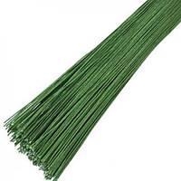 Проволока зеленая без обмотки D 0,9 мм 50 шт