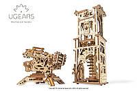 Механічні 3-D пазли UGEARS конструктор Вежа-Аркбаліста / Механические 3d пазлы Югирс, модель Башня-Аркбалиста