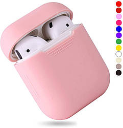 Чехол для наушников Silicone Case for AirPods - Color Light Pink