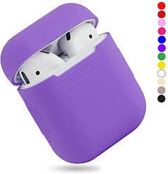 Чехол для наушников Silicone Case for AirPods - Color Purple