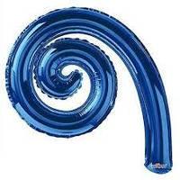 Фольгована кулька Спіраль синій 43(30СМ)