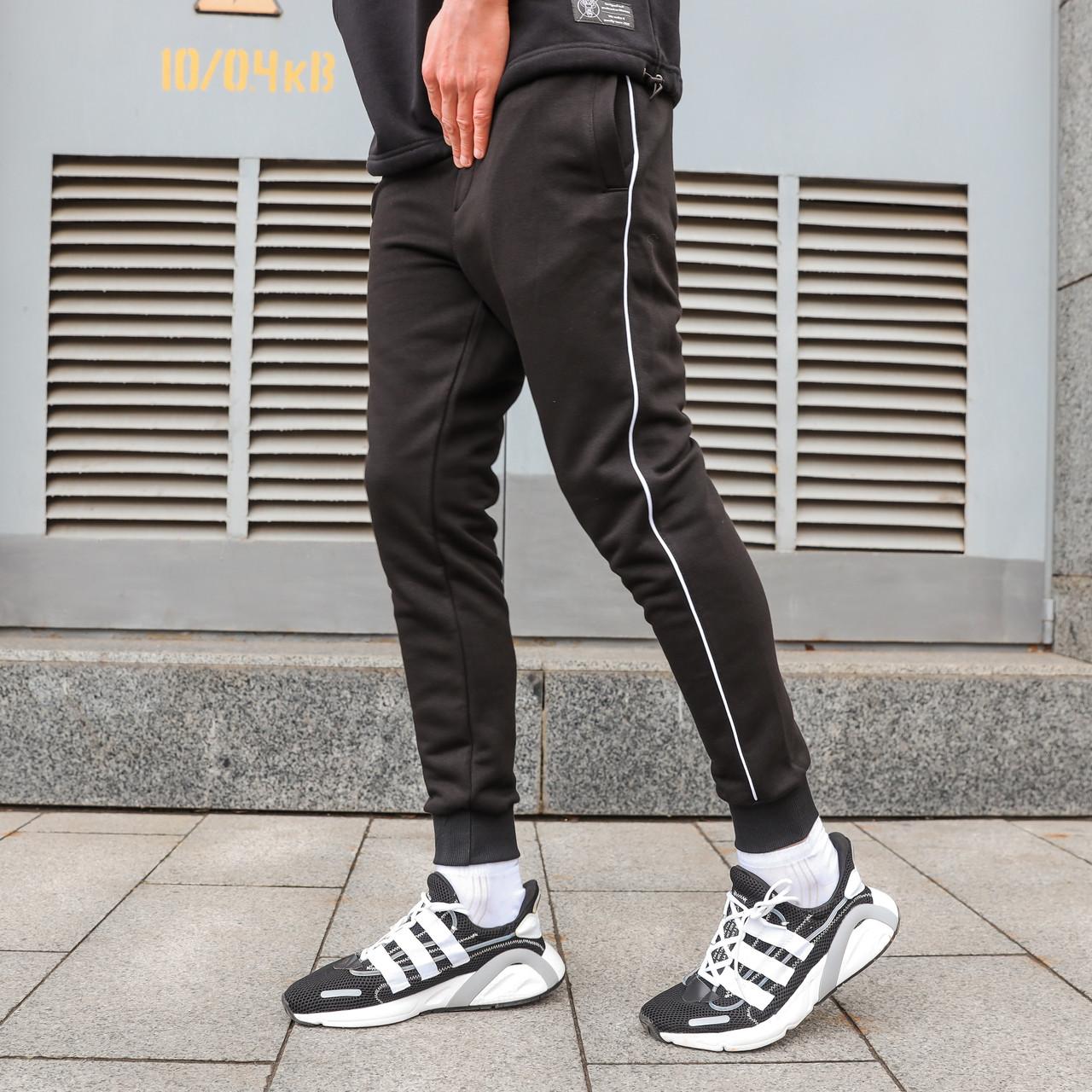Спортивные штаны мужские черные от бренда ТУР модель Рейн (Rain)