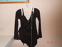 Блузон шоколадного цвета с открытыми плечами и клешным рукавом Dolce Ribella