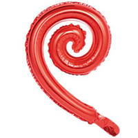 Фольгована кулька Спіраль червоний 43(30СМ)
