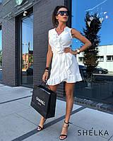 Платье на запах Белое SH10-3